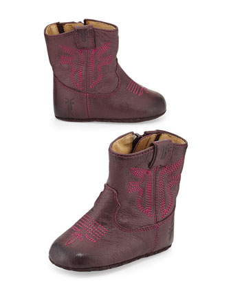 Leather Rodeo Bootie, Plum, Infant/Toddler