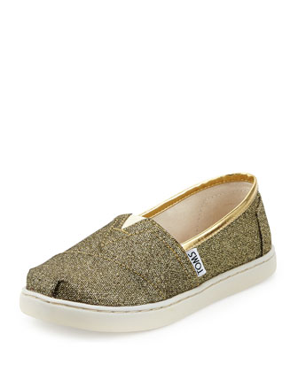 Classic Glimmer Shoe, Gold, Youth