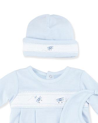 Prop Planes Baby Hat, Blue