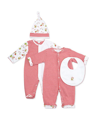 Reindeer Fun Footie & Hat Set, NB-9 Months