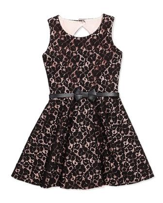 Blush Beauty Lace Fit-And-Flare Dress, Blush, Sizes 2-6X