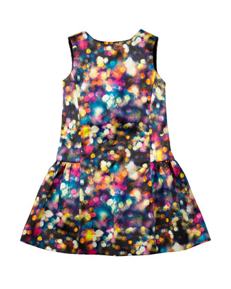 Glitter Bow Party Dress, Multi, Sizes 2-7
