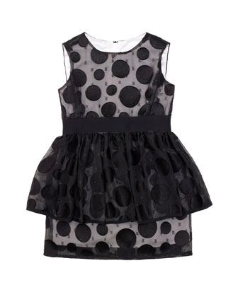 Fil Coup?? Peplum Dress, Sizes 2-7
