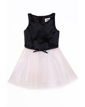Sully Satin & Tulle Party Dress, Blush, Sizes 2-7