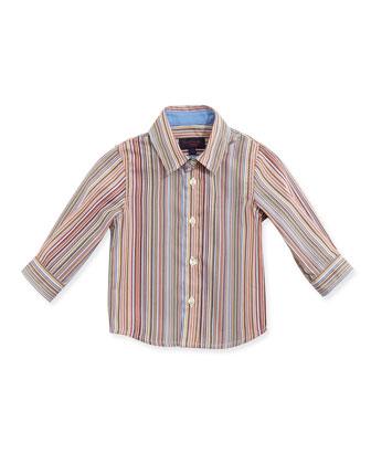 Classic Stripe Poplin Shirt, Boys' 3M-3T