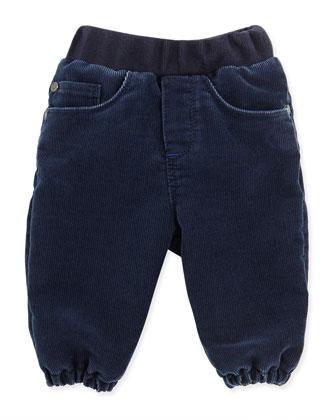 Corduroy Gathered-Leg Pants, Boys' 3M-3T