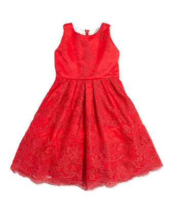 Lace and Satin Dress, 6-24 Months