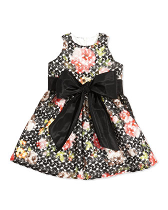 Floral-Crochet Princess Dress, Sizes 2T-4T
