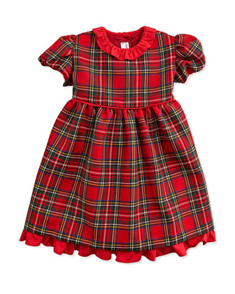Wool-Twill Tartan Plaid Dress