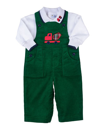 Truck Corduroy Overalls & Long-Sleeve Polo, 3-9 Months