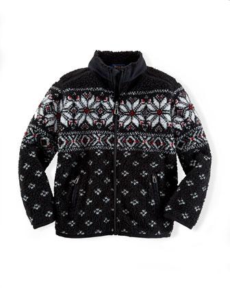 Bonded Sherpa Full-Zip Sweater, 2T-7