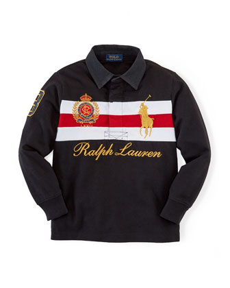 Novelty Long-Sleeve Rugby Polo, 2T-7