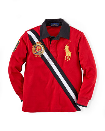 Banner-Stripe Rugby Polo, 2T-7