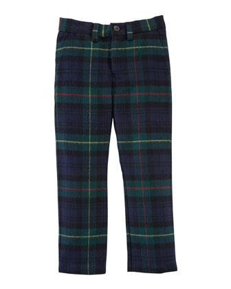 Wool Plaid Newport Pants, Sizes 2-7
