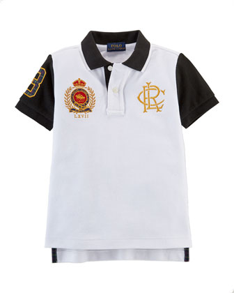 Novelty Mesh Polo, White, Sizes 2-7