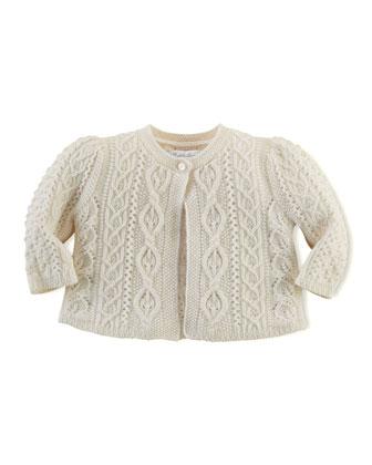 Cashmere-Blend Aran Knit Sweater, 3-24 Months