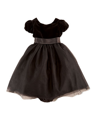 Velvet & Sparkling Tulle Dress, 9-24 Months