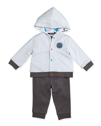 Airplane Reversible Jacket, Bodysuit, & Pants Set, 12-24 Months
