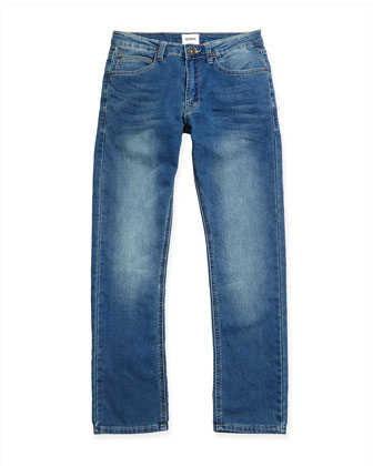 Parker French-Terry Freezer Blue Jeans, Sizes 8-14