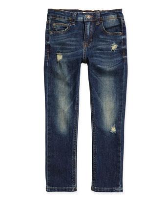 Parker Straight-Leg 5-Pocket Jeans, Pool Blue, Sizes 4-7