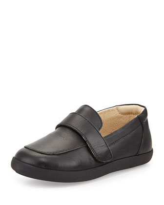 Soft Leather Loafer, Black, Youth