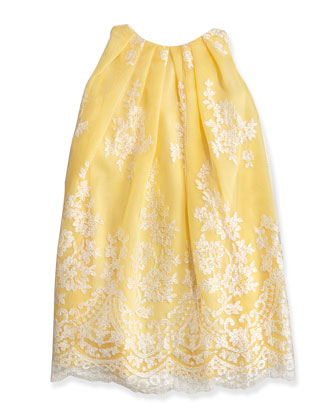 Sleeveless Lace Dress, Yellow, Sizes 2-6X