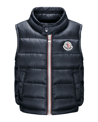 Amaury Long-Season Quilted Vest, 12M-3Y
