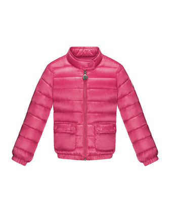 Lans Quilted Tech Jacket, Fuchsia, Sizes 2-6