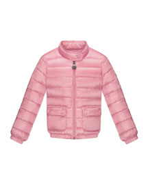 Lans Quilted Tech Jacket, Med Pink, Sizes 4-6