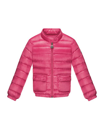 Lans Quilted Tech Jacket, Fuchsia, Sizes 8-14