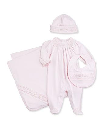 Summer Bishop Footie Pajamas, Pink, Size NB-9 Months