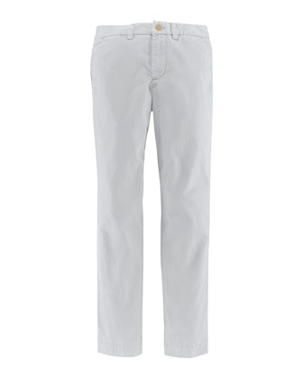 Skinny-Fit Canvas Pants, White, Size 2-7