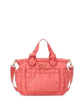 Eliz-A-Baby Pretty Nylon Diaper Bag, Rose Bush
