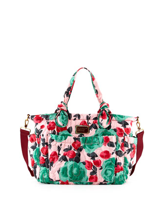 Eliz-A-Baby Pretty Nylon Diaper Bag, Floral