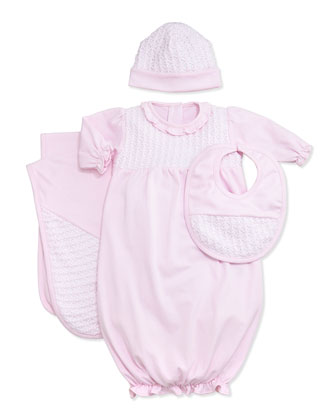 Sweet Moments Baby Hat, Pink, NB-Small