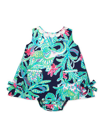 Baby Lilly Shift Dress, Bright Navy, 3-24 Months