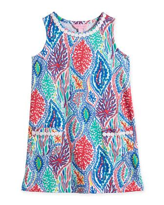 Little Lilly Let Minnow-Print Knit Shift Dress, Multicolor, Size XS-XL