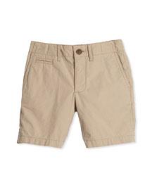 Super Exploded Straight-Leg Khaki Shorts, Honey, Size 4Y-14Y