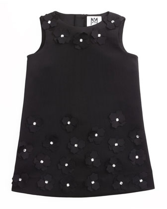 Tech-Knit Shift Dress, Black, Sizes 8-14