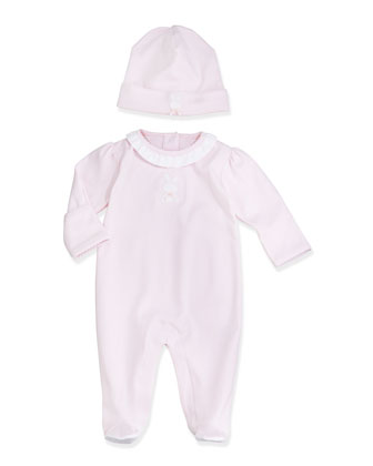 Pique Bunny Footie Pajamas, Pink, Size NB-6 Months