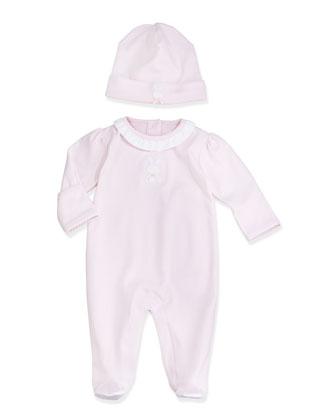 Pique Bunny Baby Hat, Pink