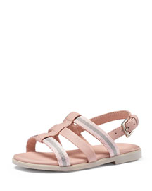 Vida Web & Leather Sandal, Toddler