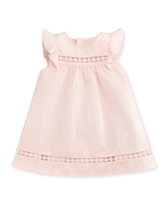 Woven Ruffle-Trim Shift Dress, Light Pink, Size 12M-3Y