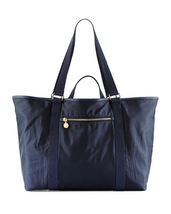 Faux-Leather Trim Diaper Bag, Night Night