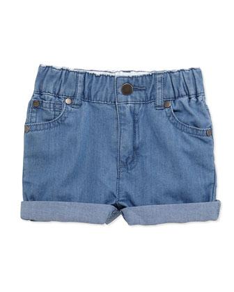 Rolled-Cuff Denim Shorts, Size 6-24 Months