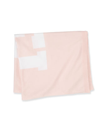 Logo Knitted Scarf, Light Pink