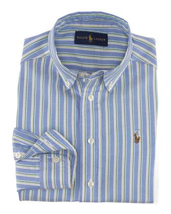 Blake Striped Oxford Shirt, Blue/Multicolor, Size 2-7