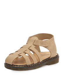 Suede Fisherman Sandal, Tan