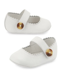 N1-Hounsett Newborn Leather Mary Jane, Optic White