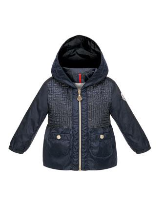 Chouchane Zip-Front Hooded Jacket, Navy, Size 12 Months-3